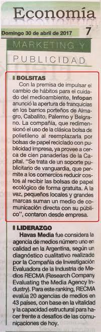 Bolsitas Infopan | Diario La Prensa, sup. Economía