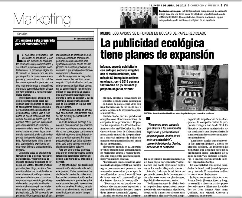 Diario Comercio y Justicia (Córdoba)|Expansión de Infopan