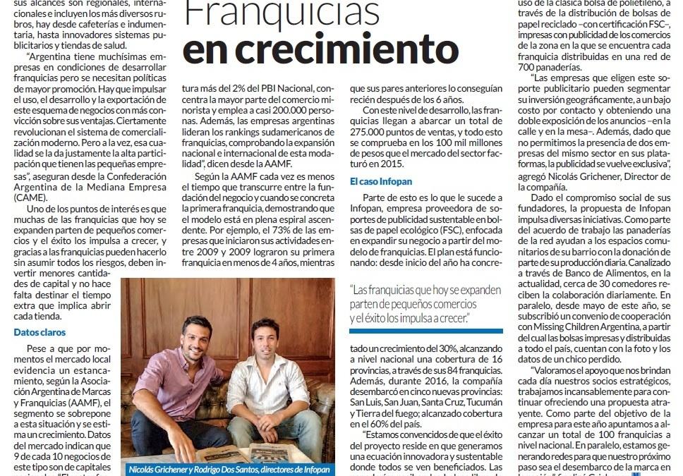 Infopan crece | Revista mañana profesional
